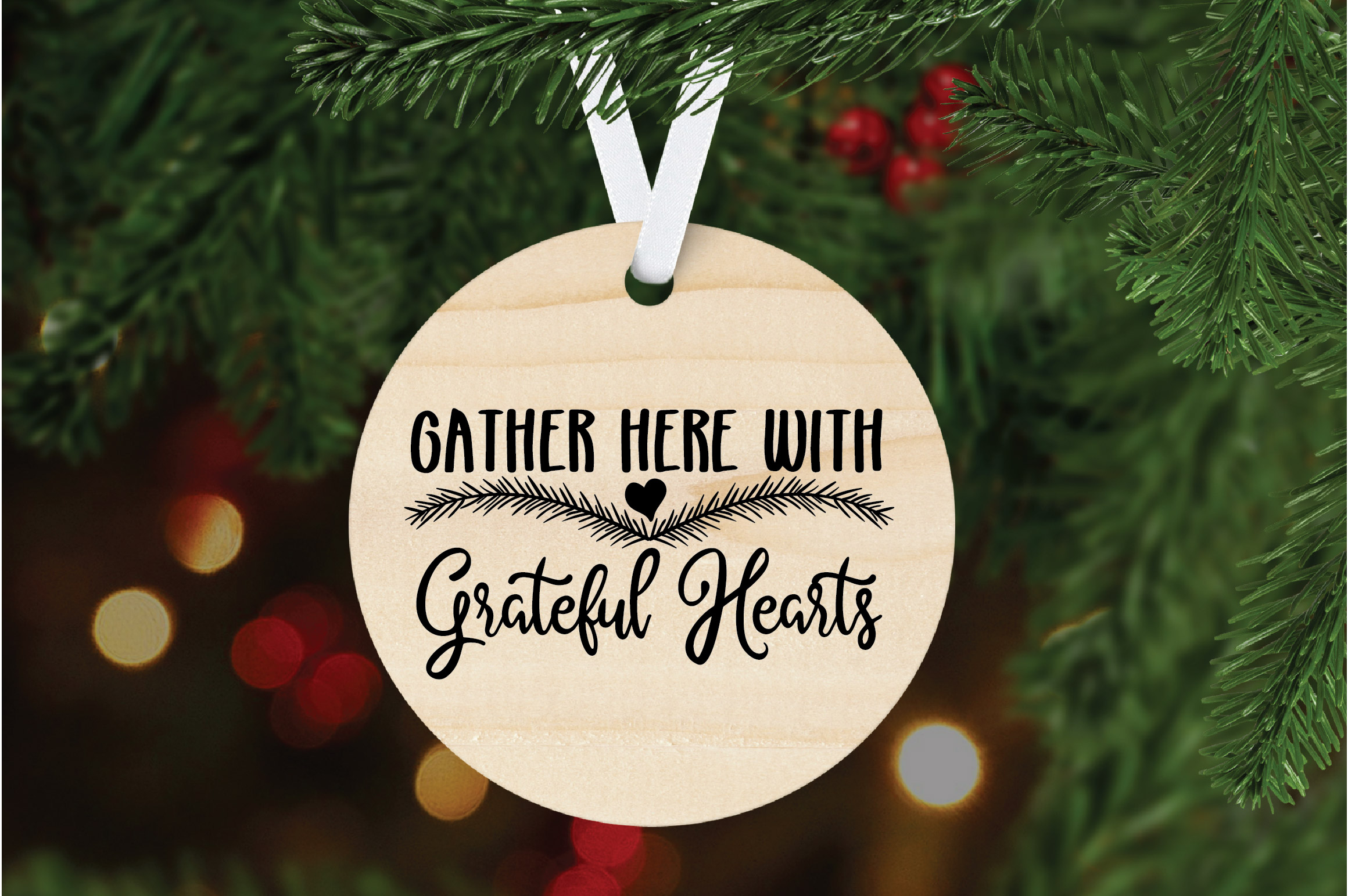 Christmas SVG Cut File -Gather Here with Grateful Hearts SVG example image 6