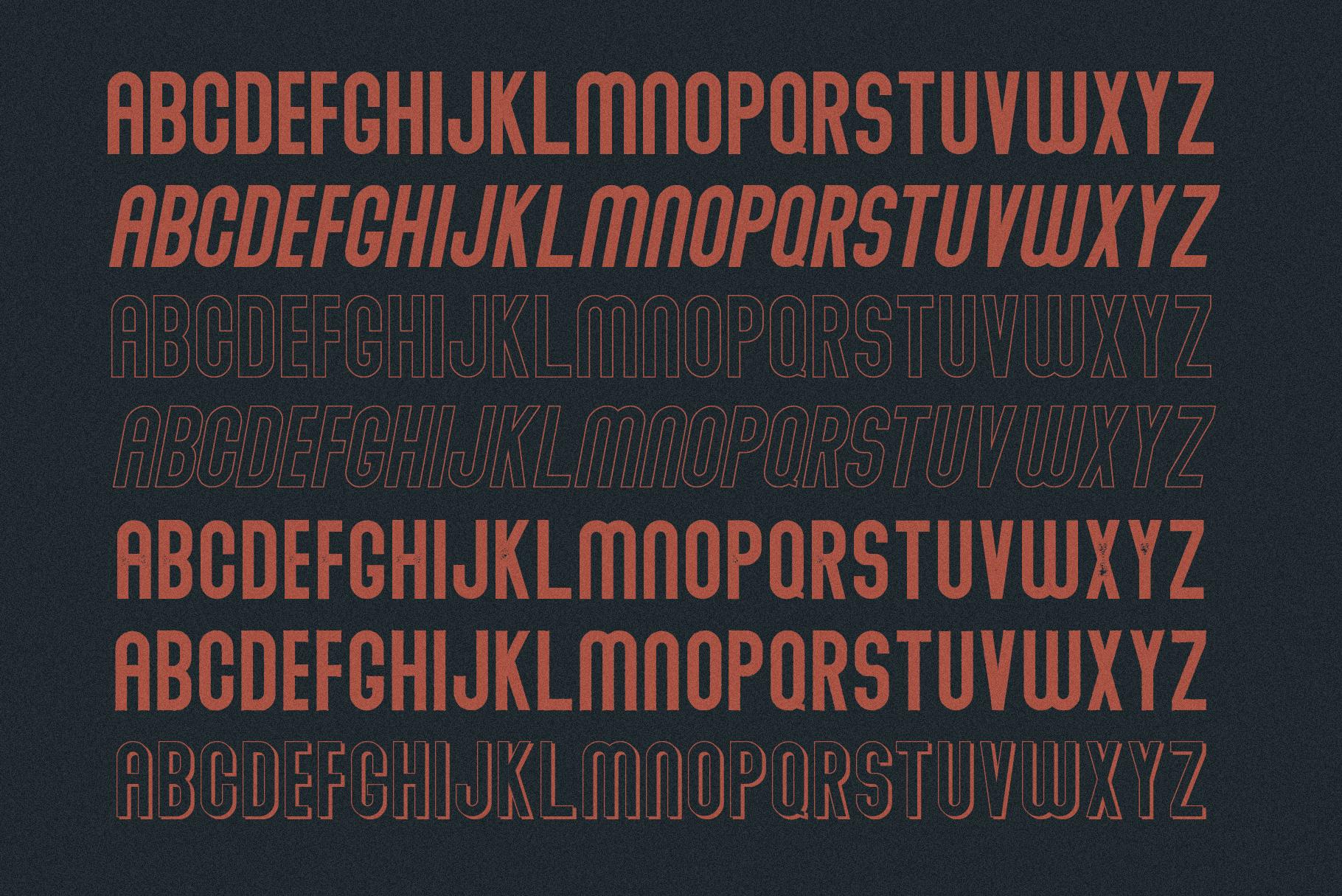 Abraham Font Family 7 Style Fonts example image 3