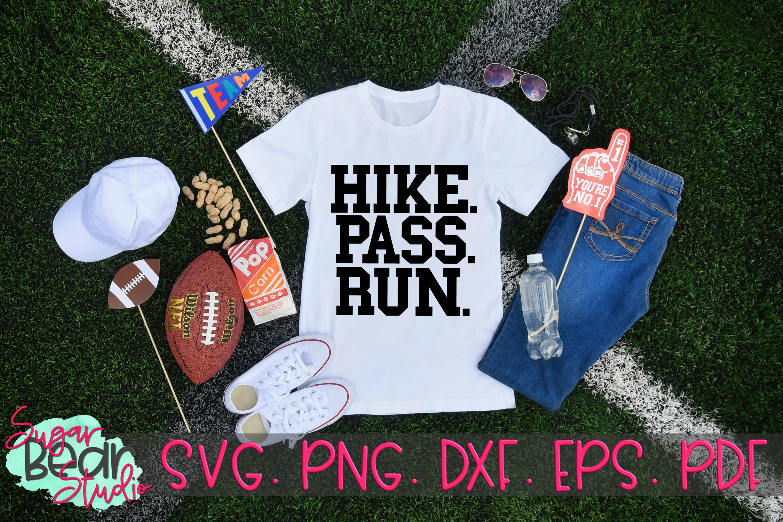 Hike Pass Run - A Football SVG example image 2