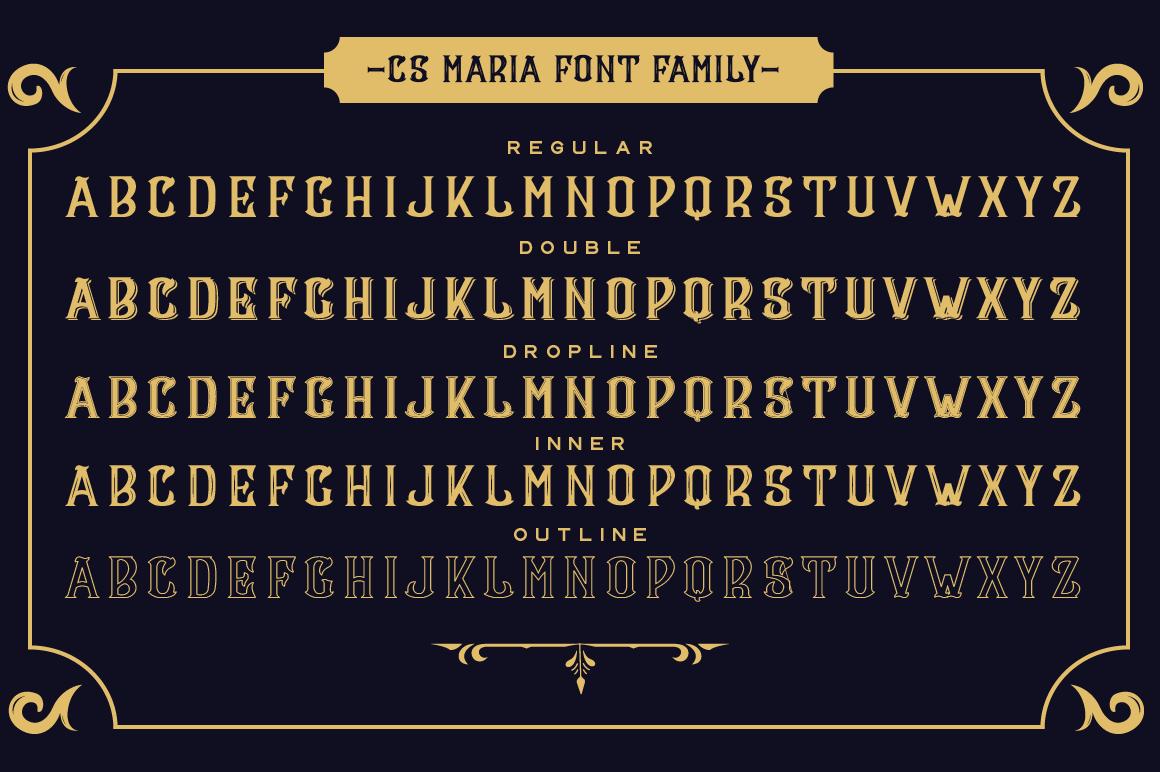 CS Maria Font + Ornaments example image 2