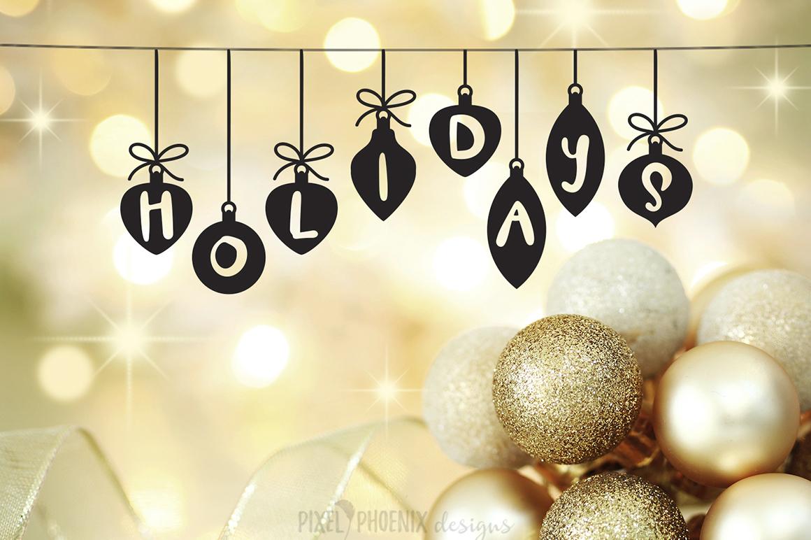 Christmas Font - Festive Balls example image 3