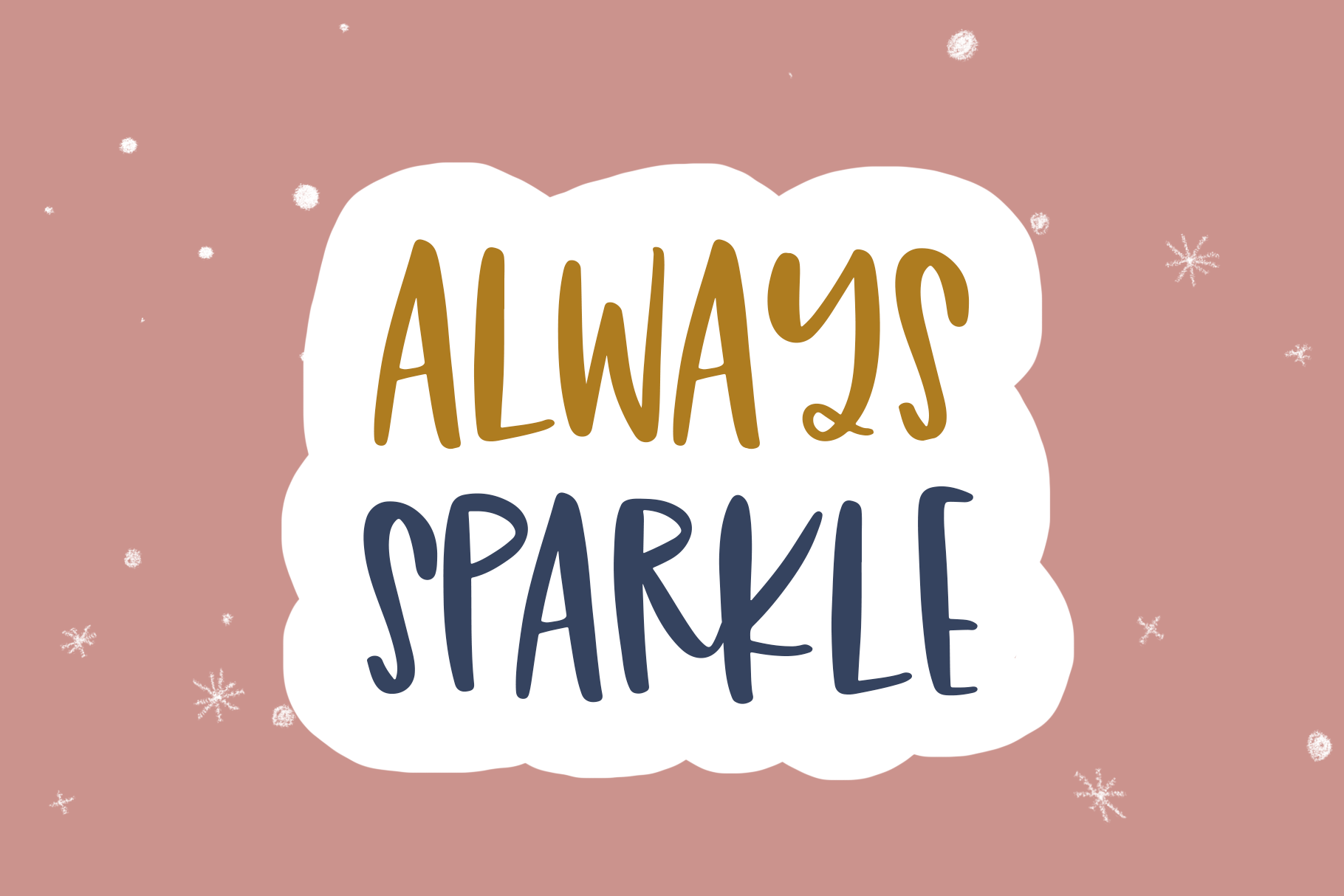 Sugar Sparkle - A Handwritten Font Duo example image 6