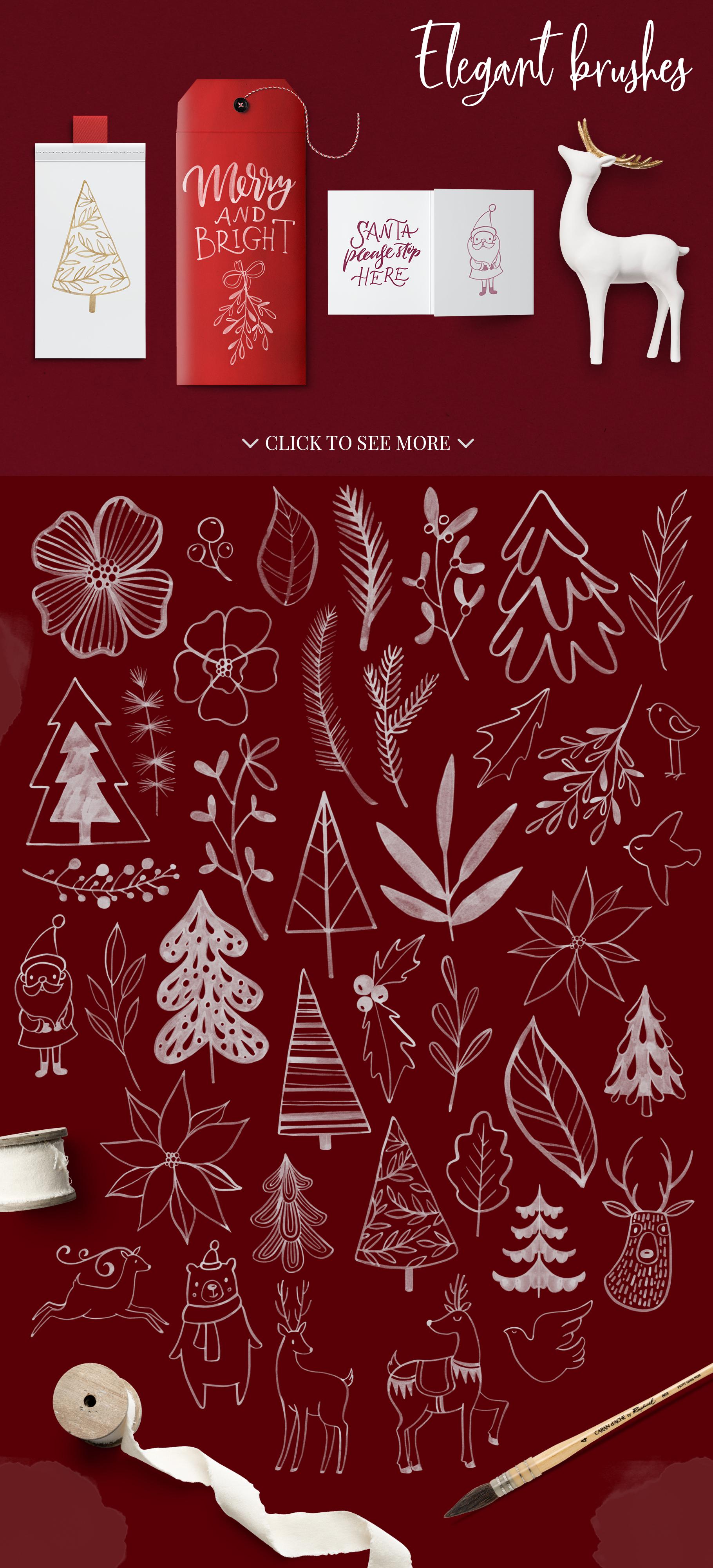 Christmas palette brushpack example image 2
