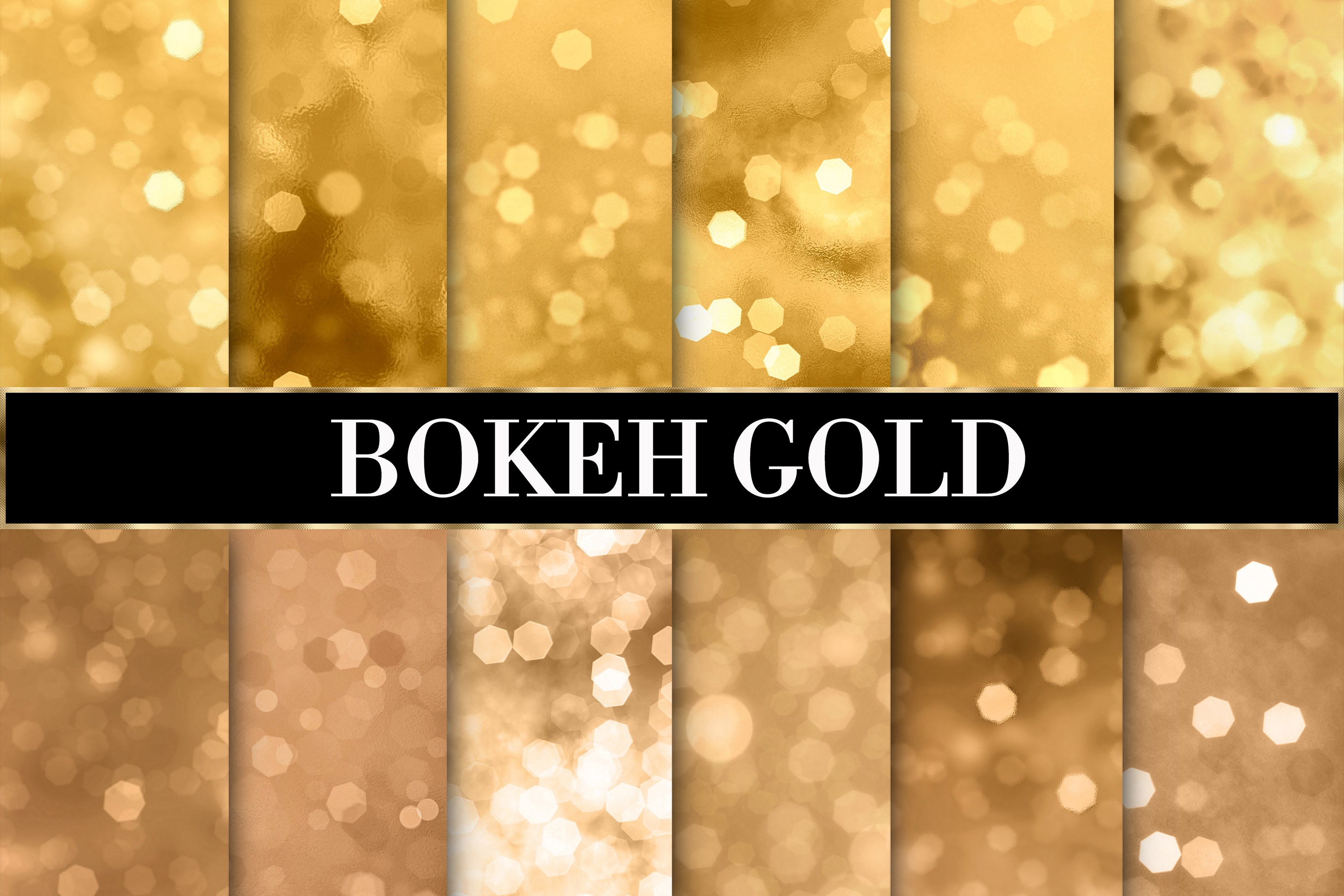 Bokeh gold overlays high resolutions example image 1