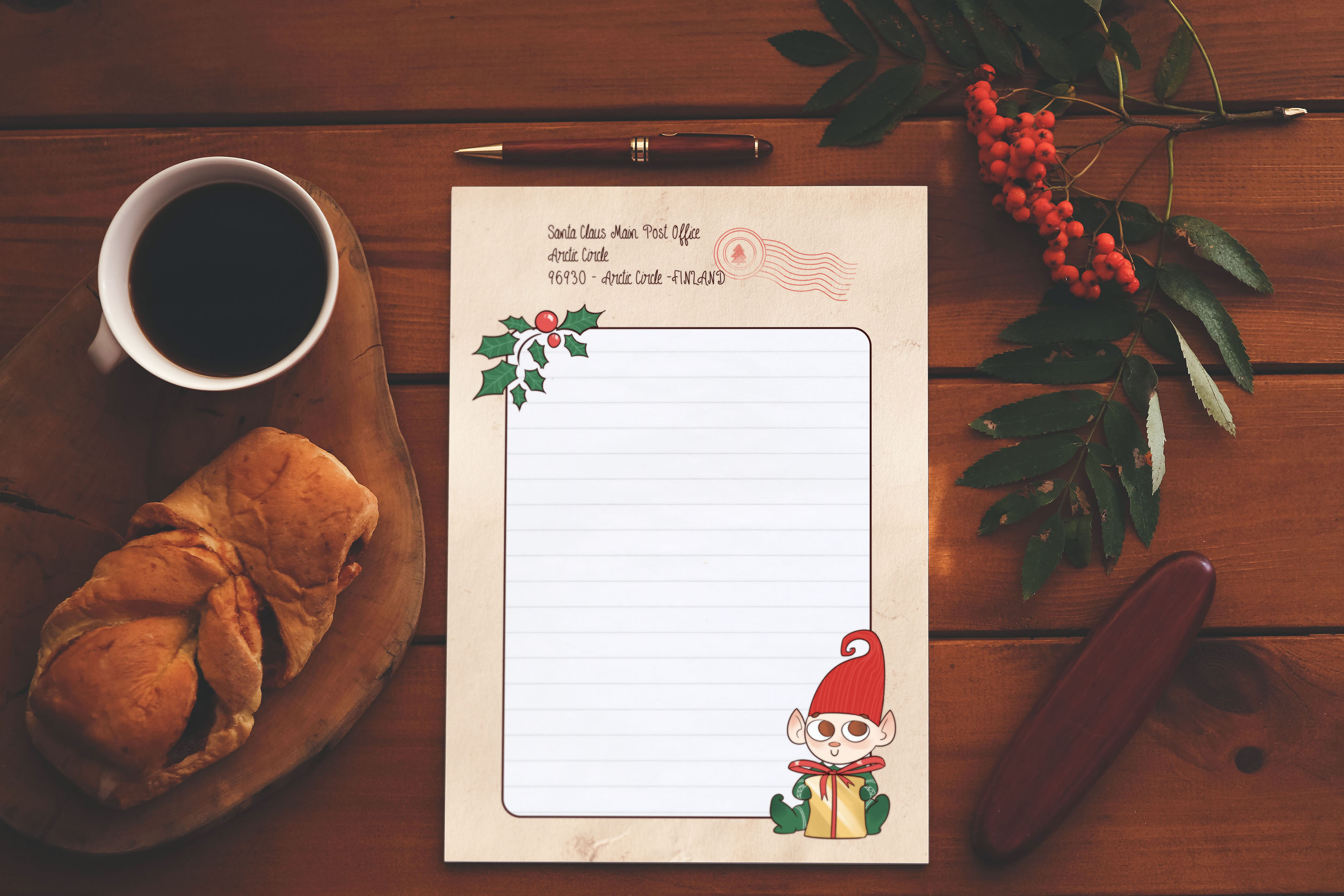 SANTA's LETTER TEMPLATE - Christmas letter by TdT example image 5