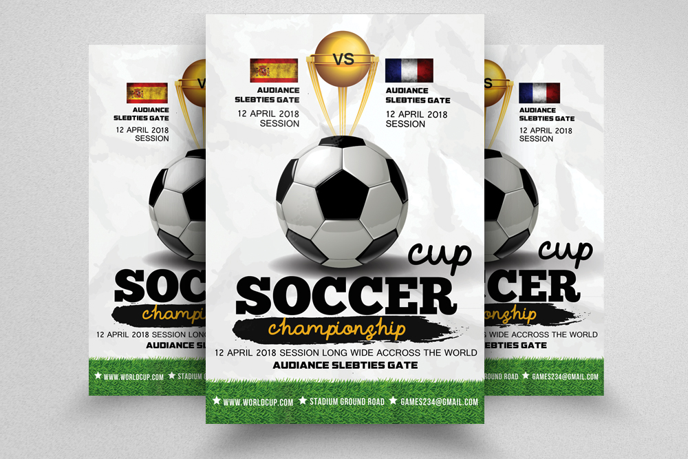 Football Match Flyer Template example image 1