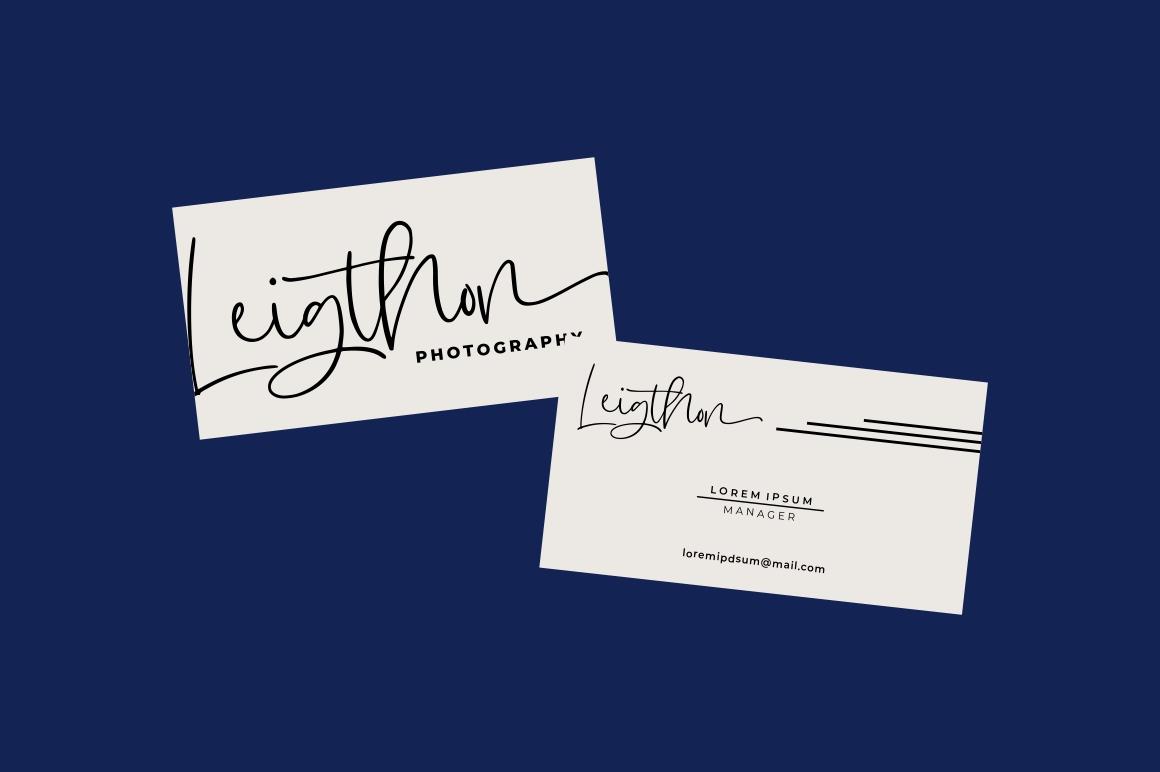 Hugesnow - Signature Font example image 8