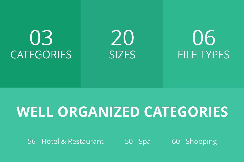 166 Hotel & Relaxation Flat Icons example image 2