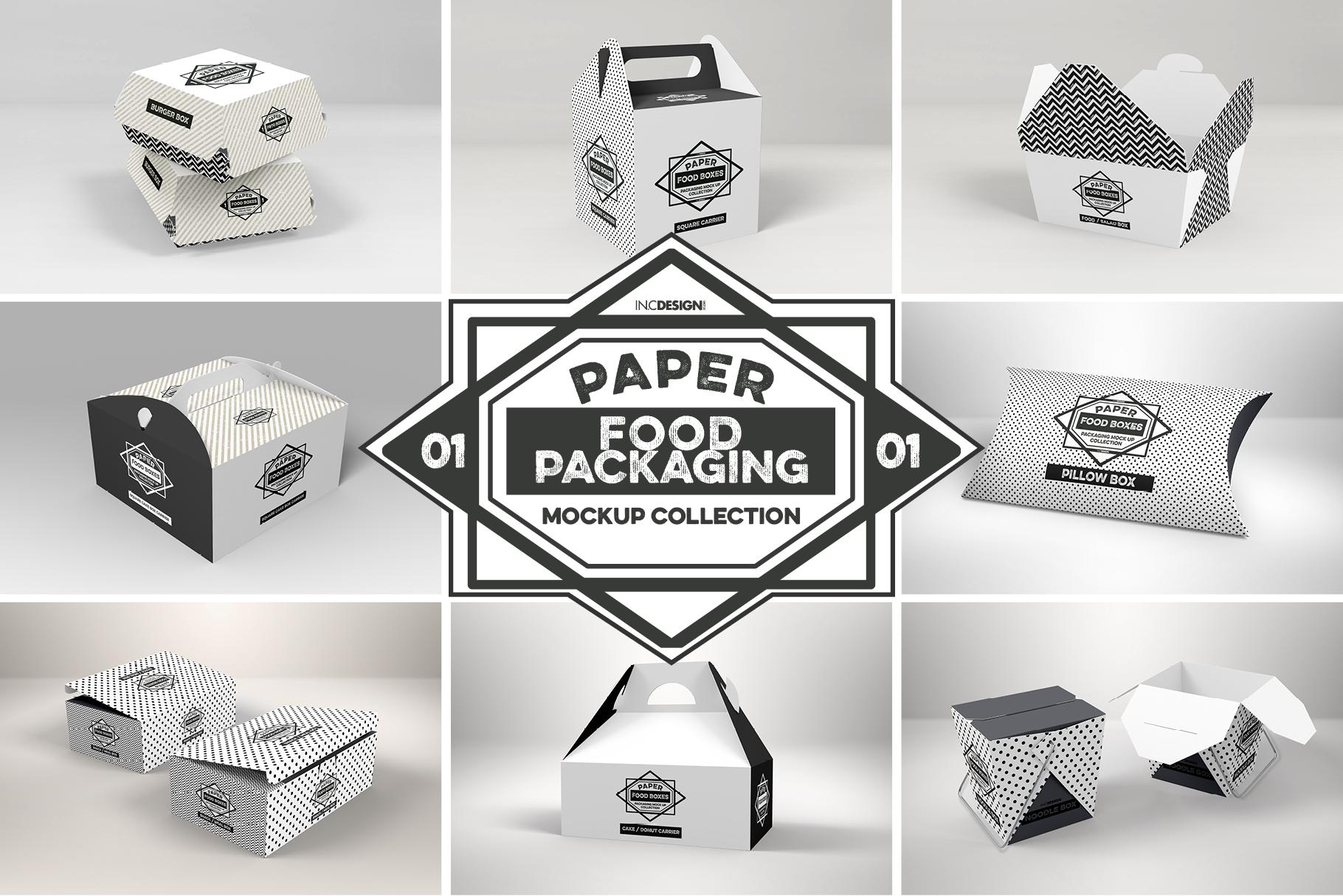 VOL.1 Food Box Packaging MockUps example image 22