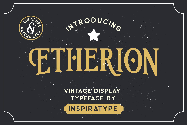 Etherion - Vintage Display font example image 1