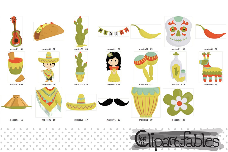 Mexican Cinco de Mayo clipart, digital clipart - instant example image 2