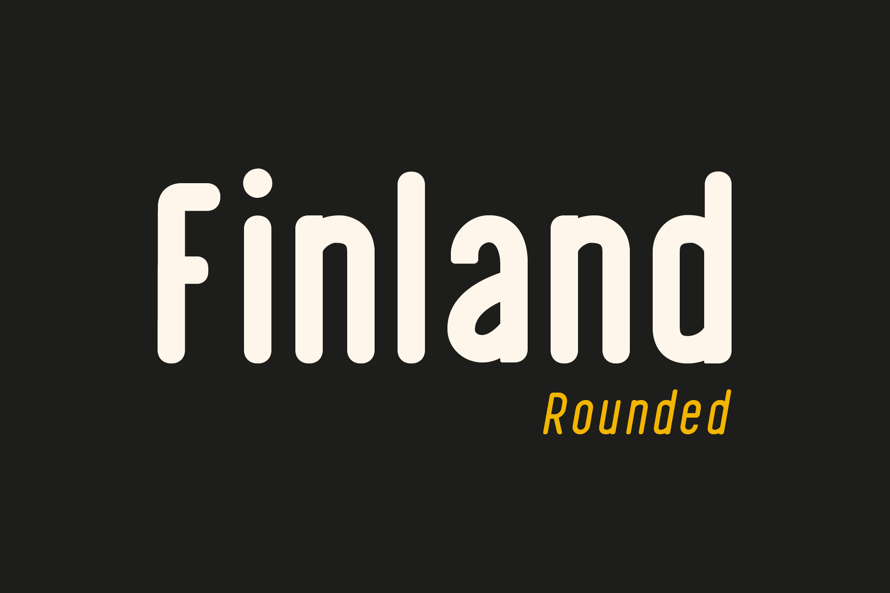 Finland Rounded - Font Family example image 2