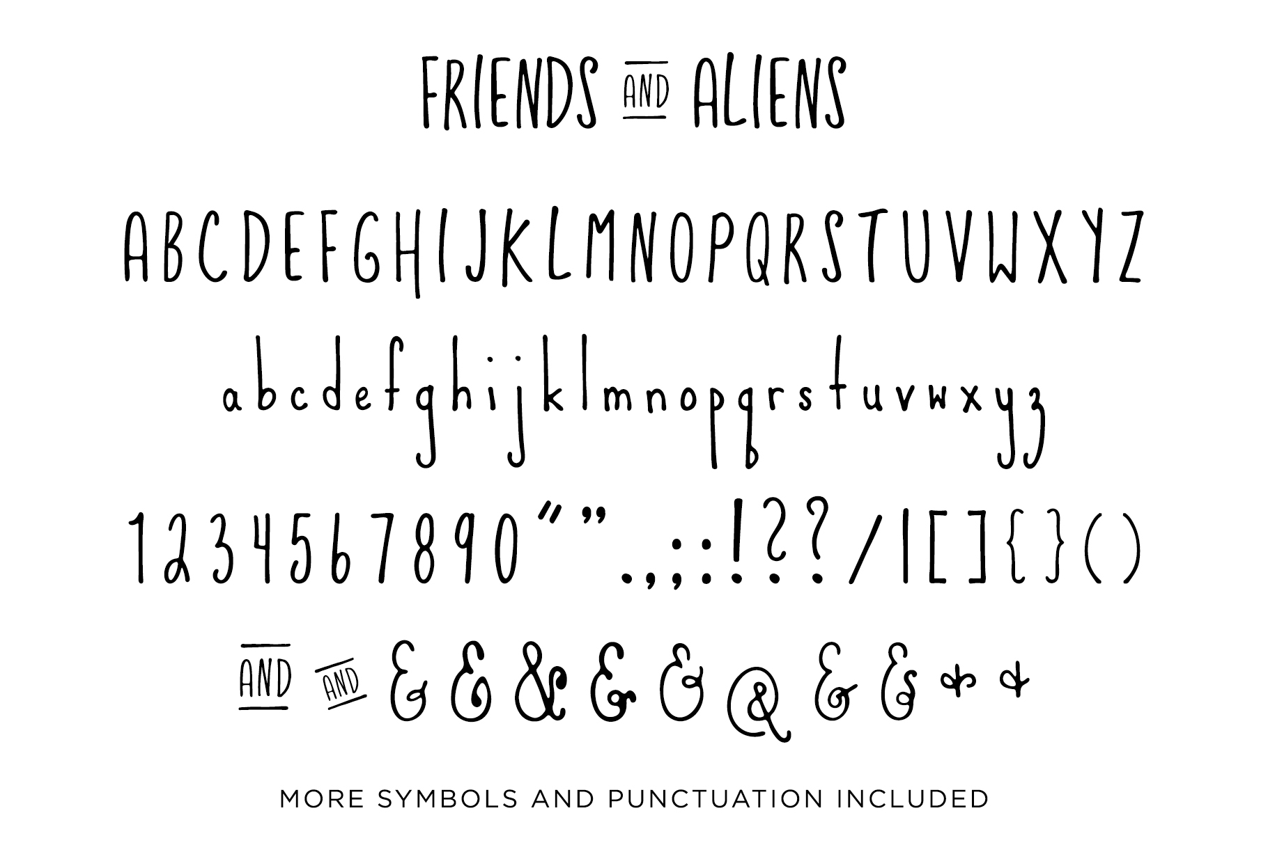 Friends & Aliens Font example image 7