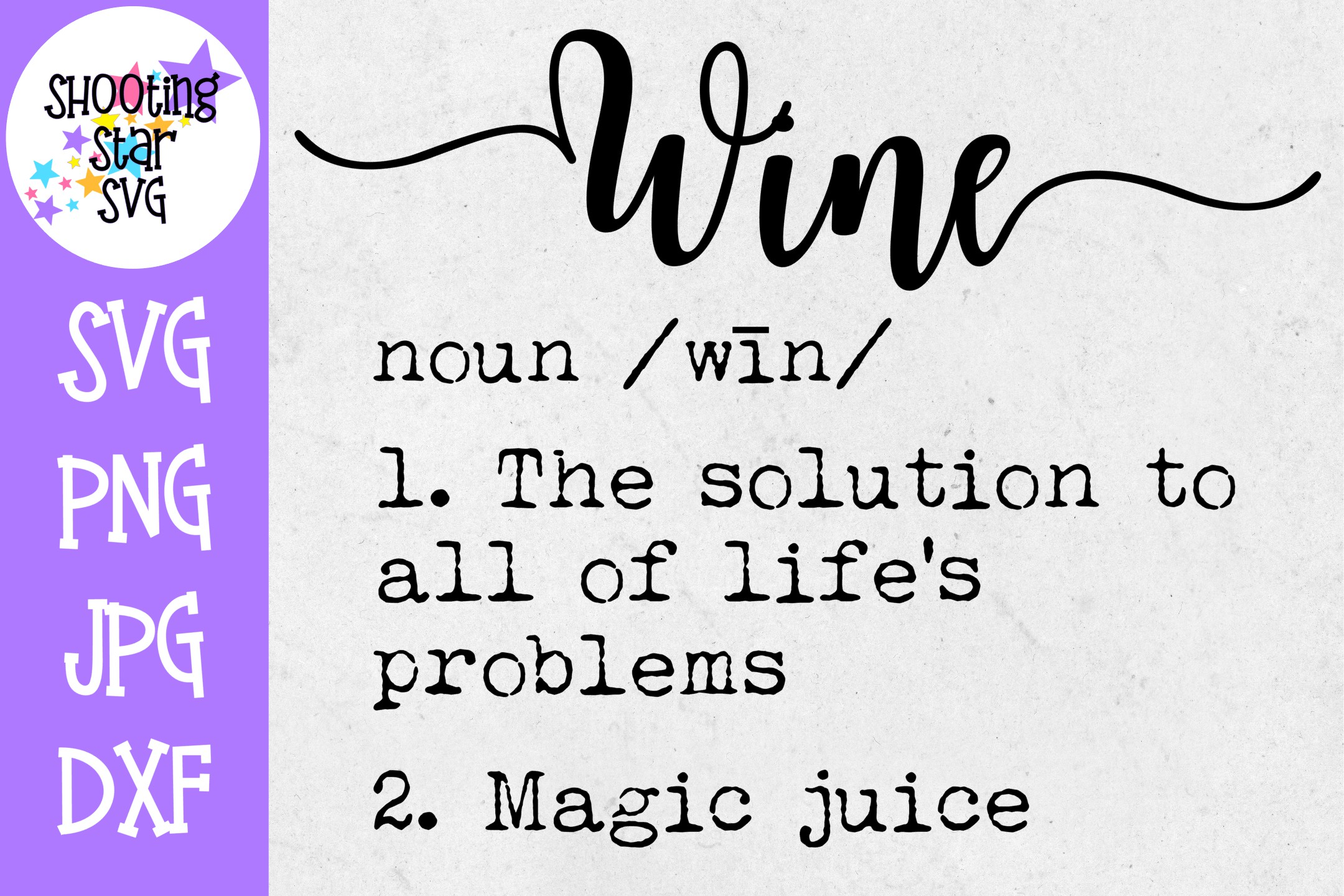Wine Definition SVG - Funny Wine Definition - Wine Lover SVG example image 1