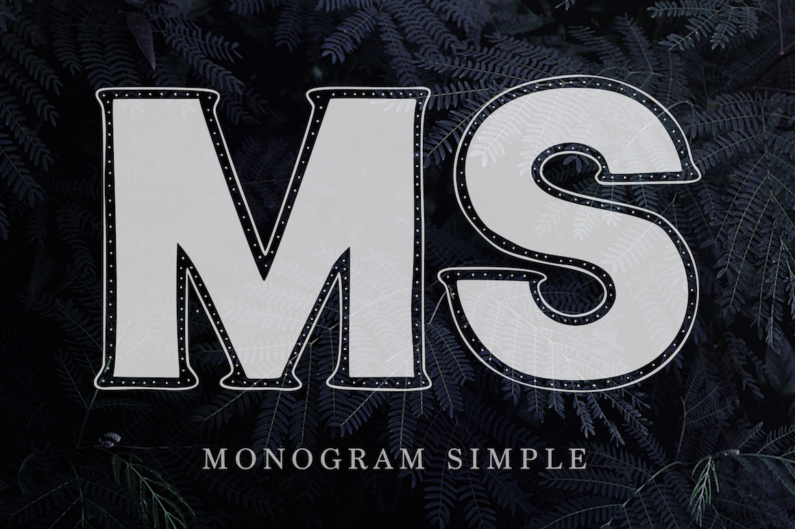Monogram. 5 elegant fonts. example image 13