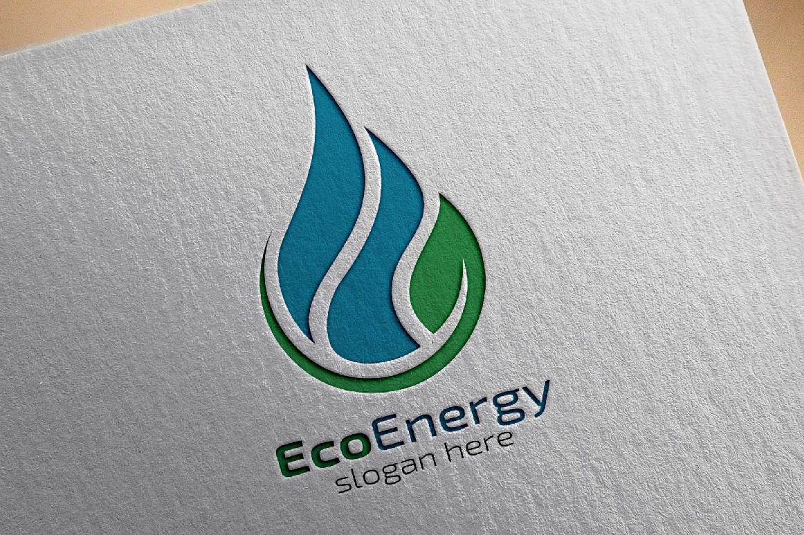 eco water drop logo  energies logo