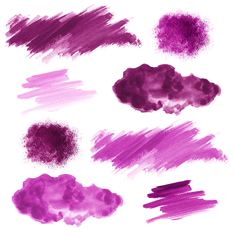 16 Pink Watercolor Design Elements example image 2