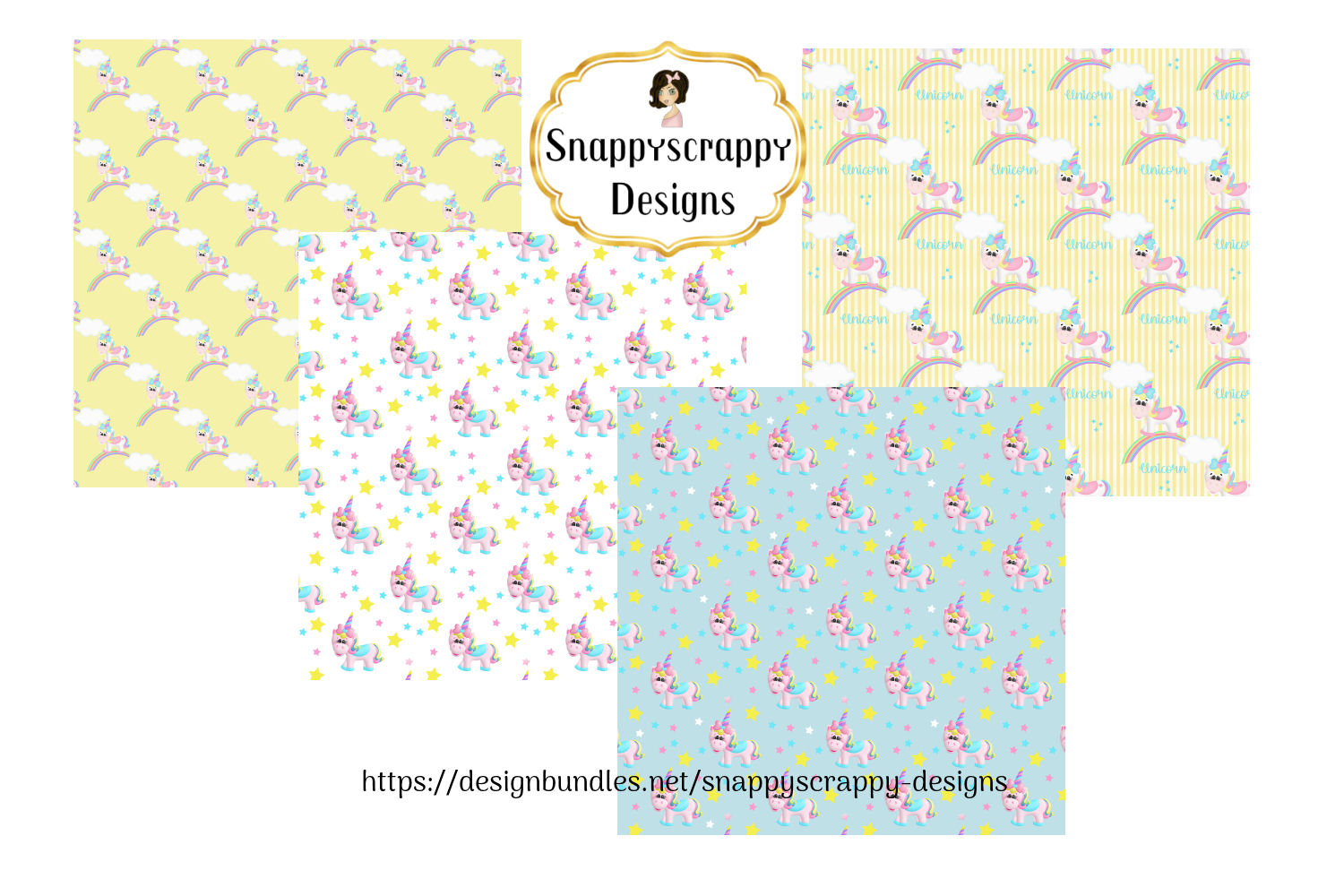 Unicorn Background Papers example image 4