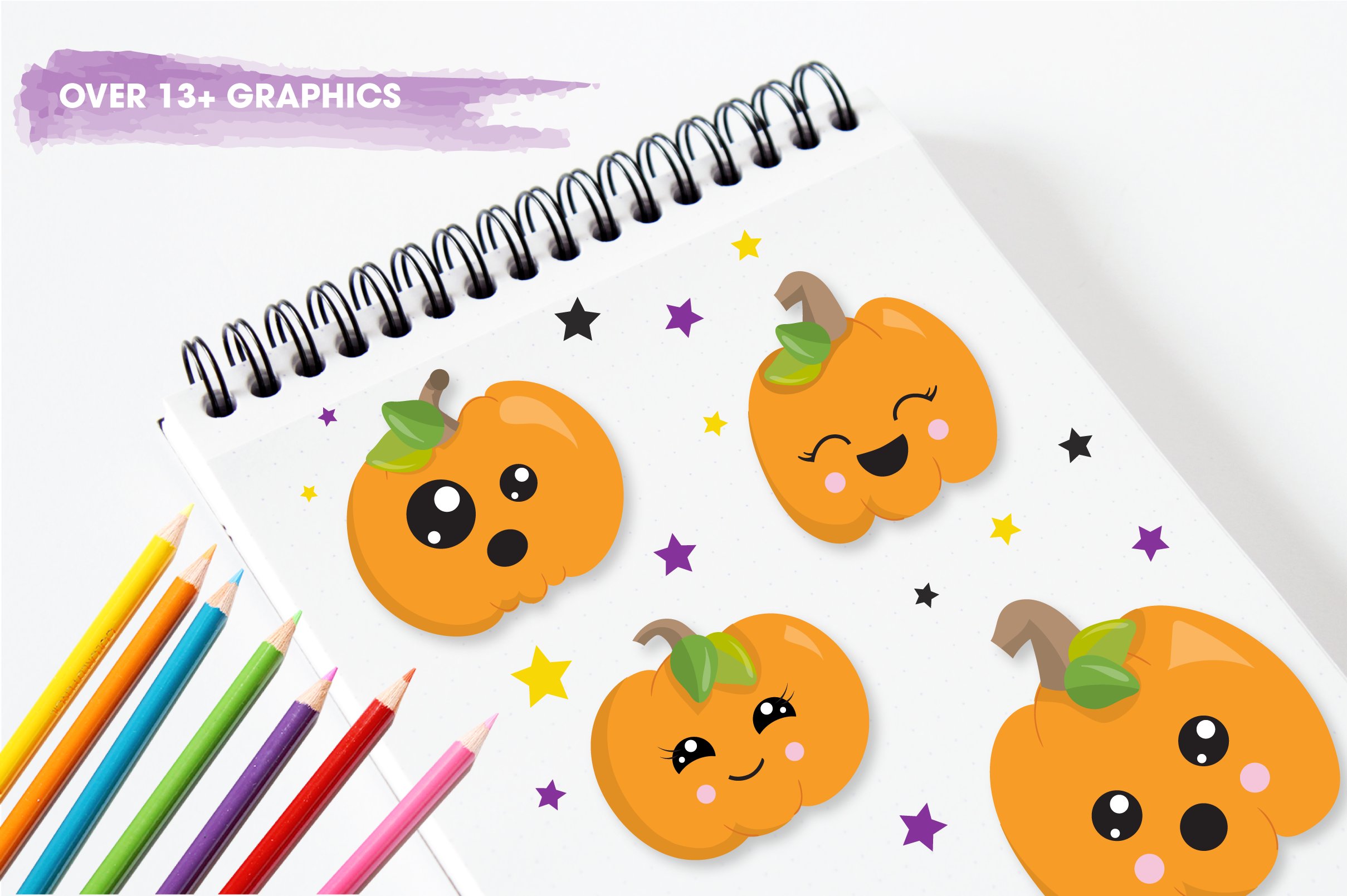 halloween pumpkins graphics and illustrations example image 5