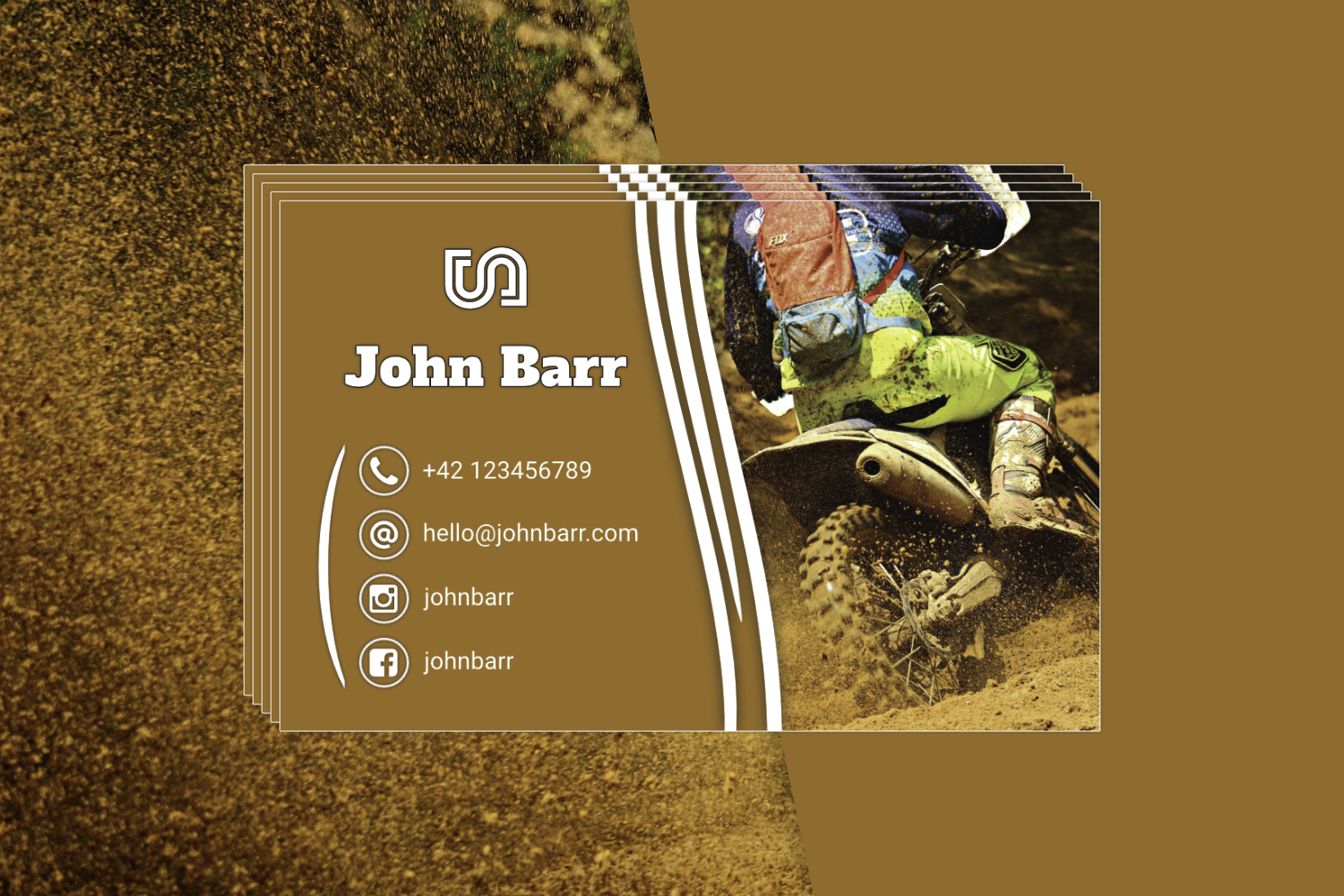 12 Sport Business Card Templates example image 11