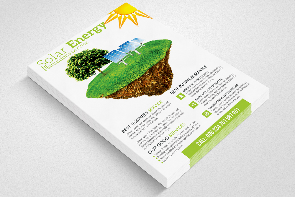 Green Energy Flyer Templates example image 3