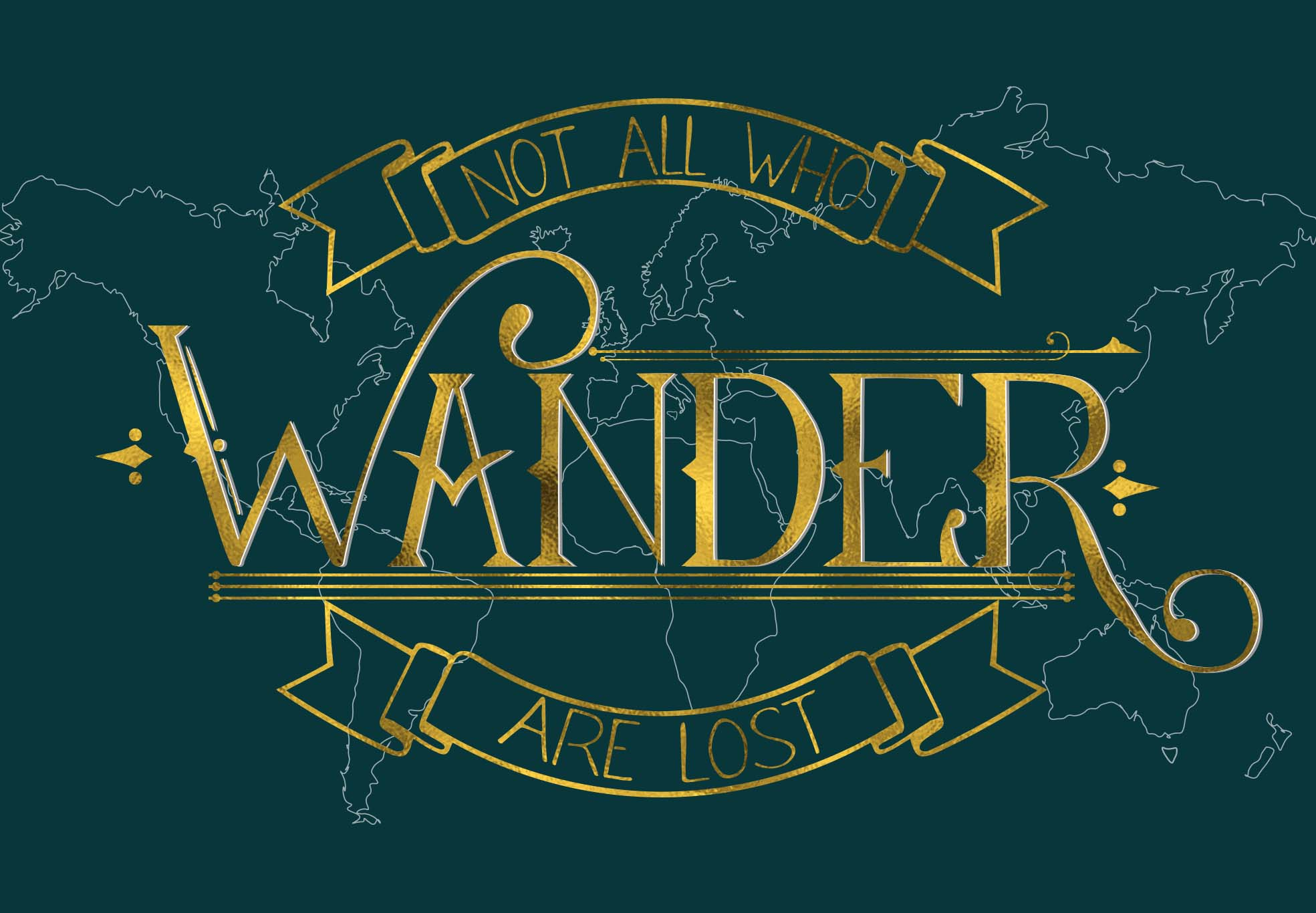 Wanderlust-a vintage style display font example image 4