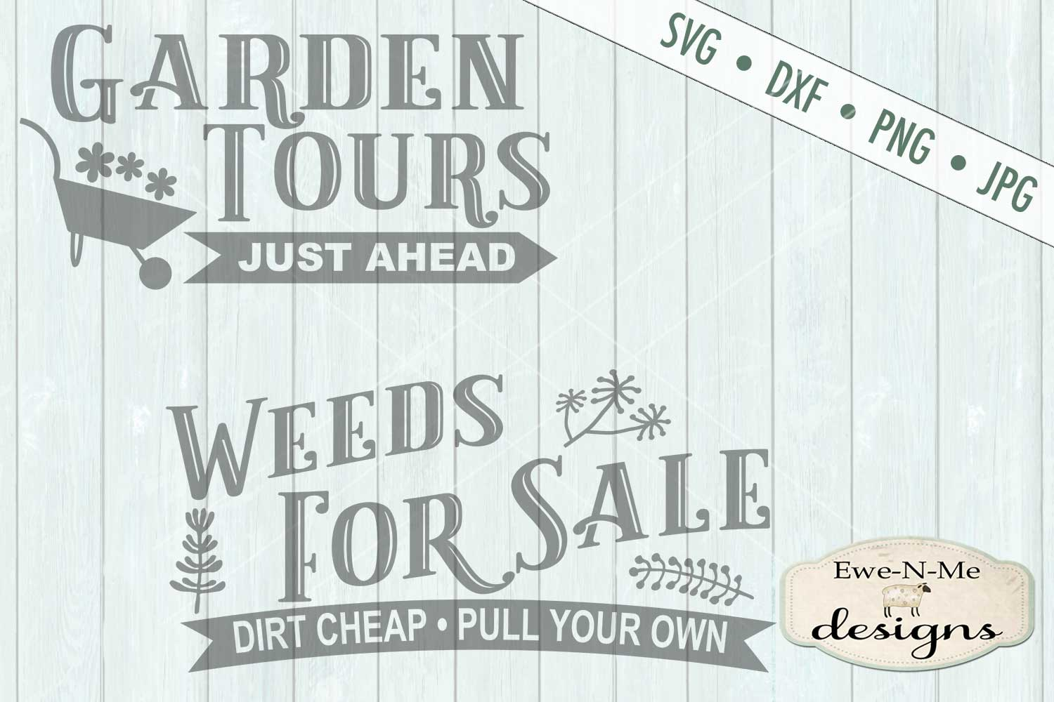 Garden Tours Weeds For Sale SVG DXF Files example image 2