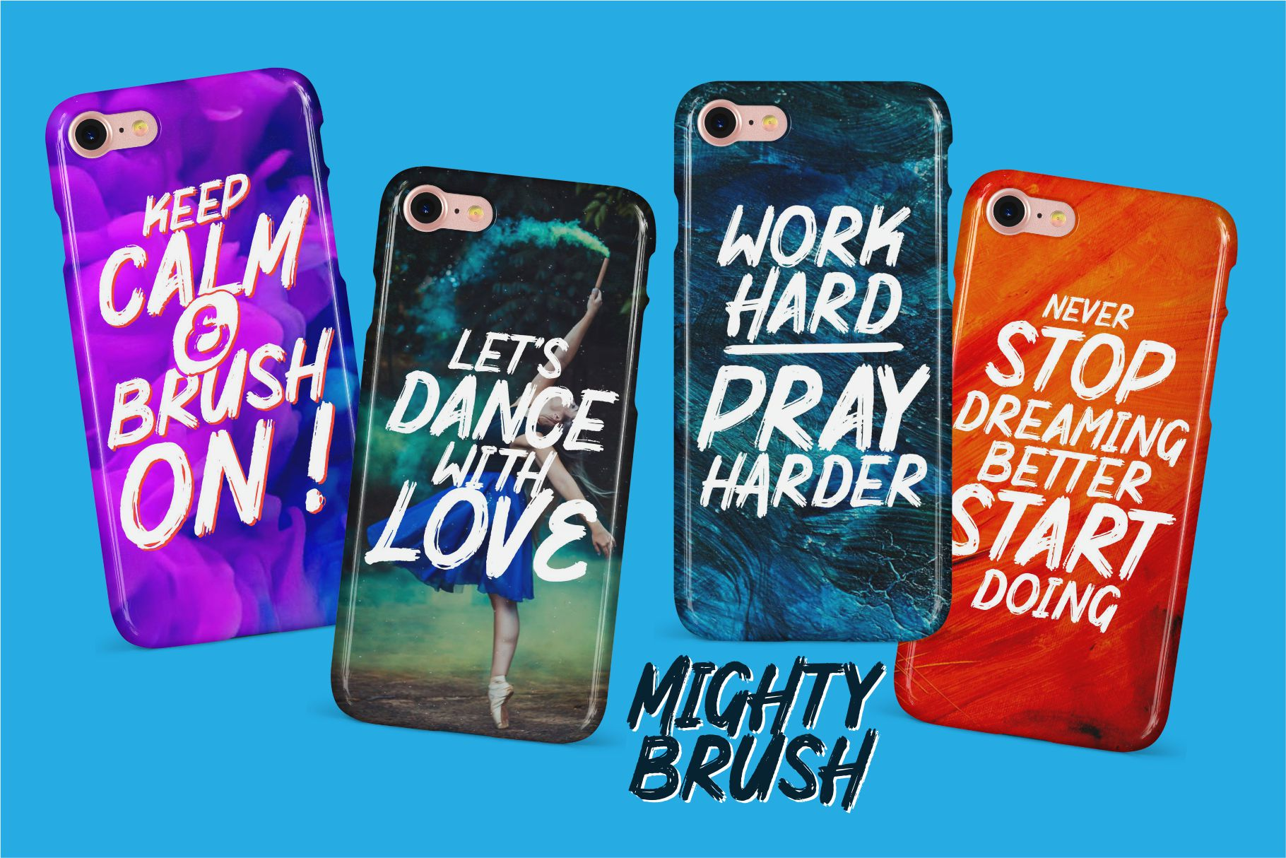 Mighty Brush Font example image 7