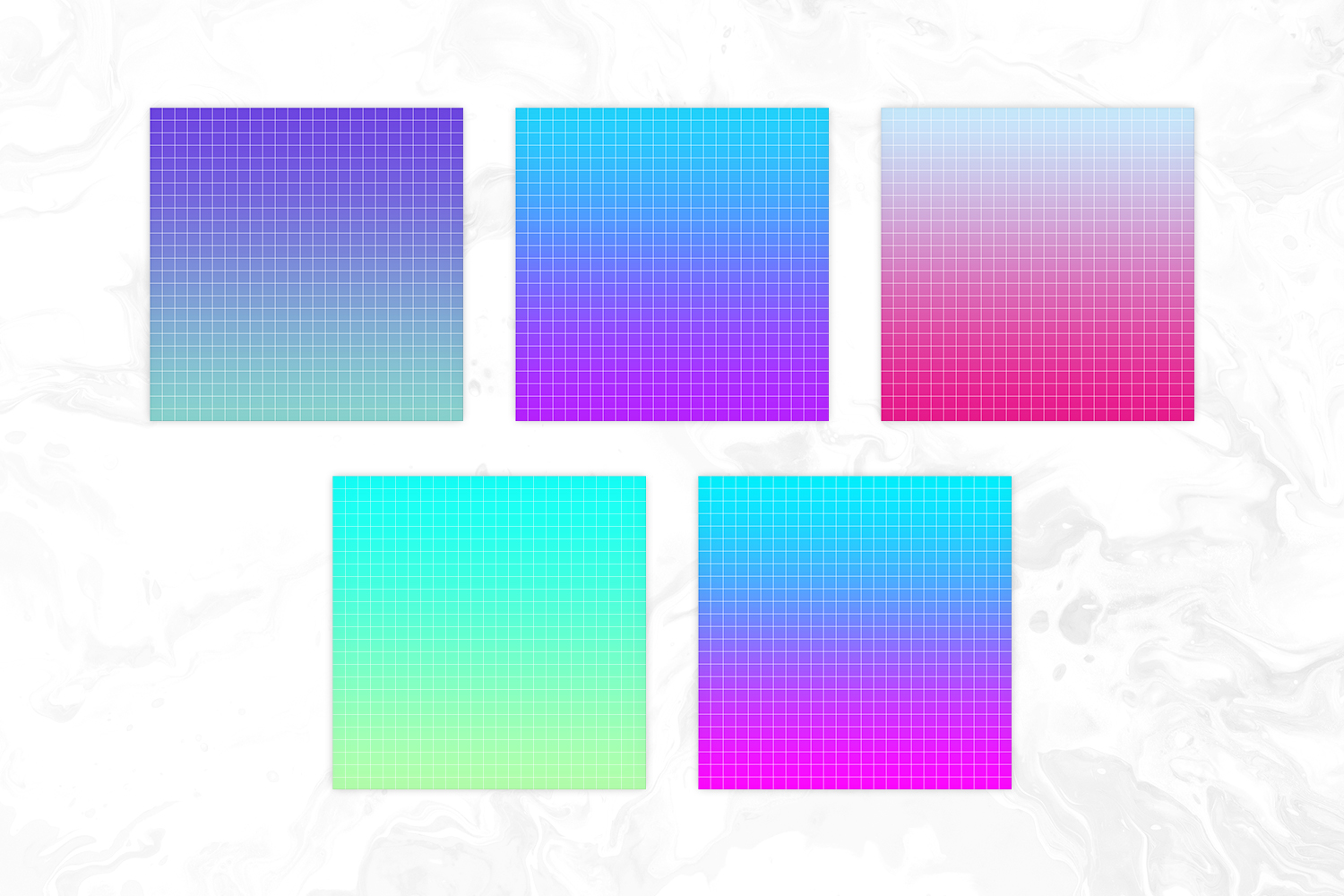 Seapunk Inspired Bright Gradient Big Grid Backgrounds example image 3