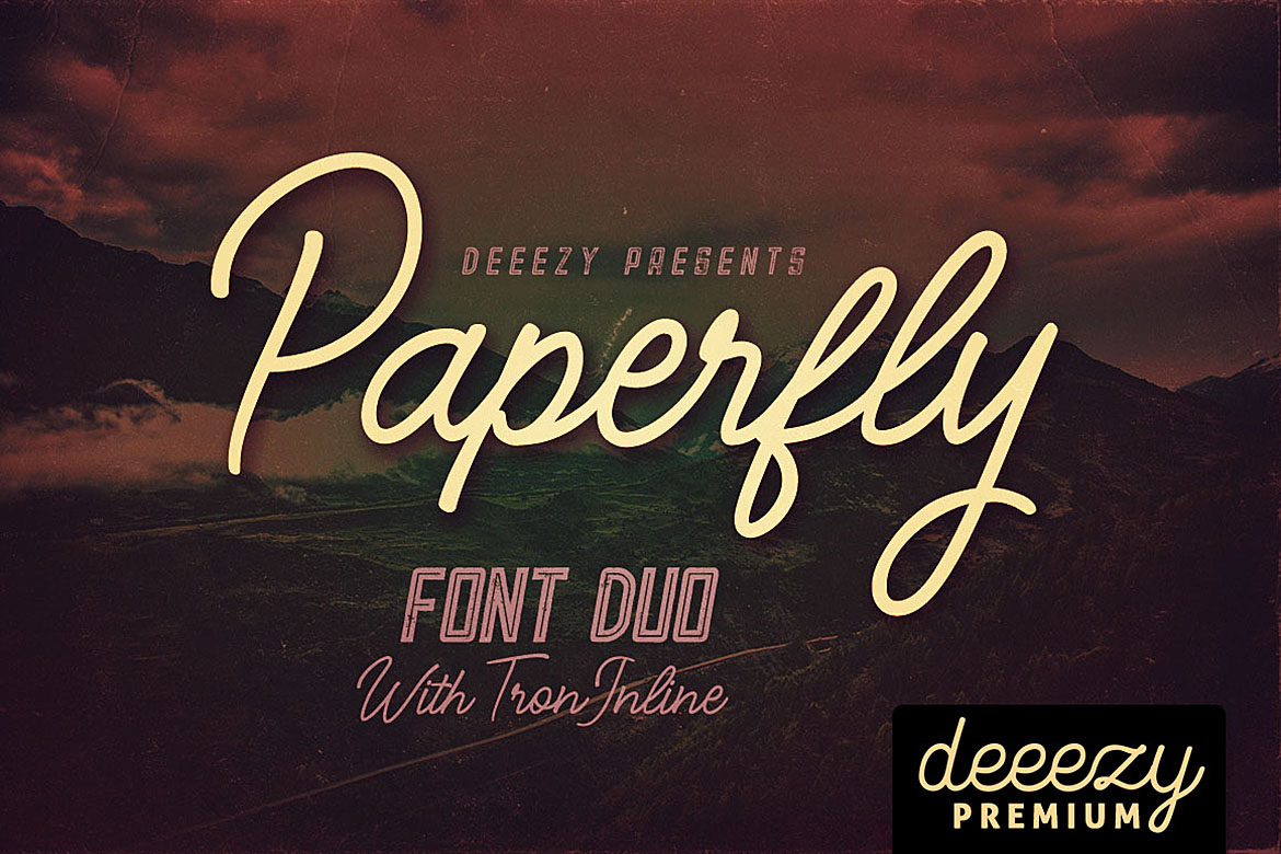 Paperfly Font Duo example image 1