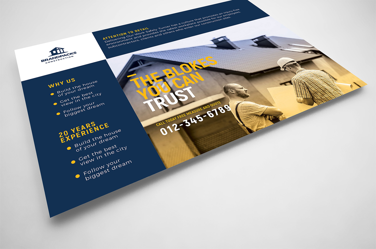 Construction Company Flyer Template example image 4