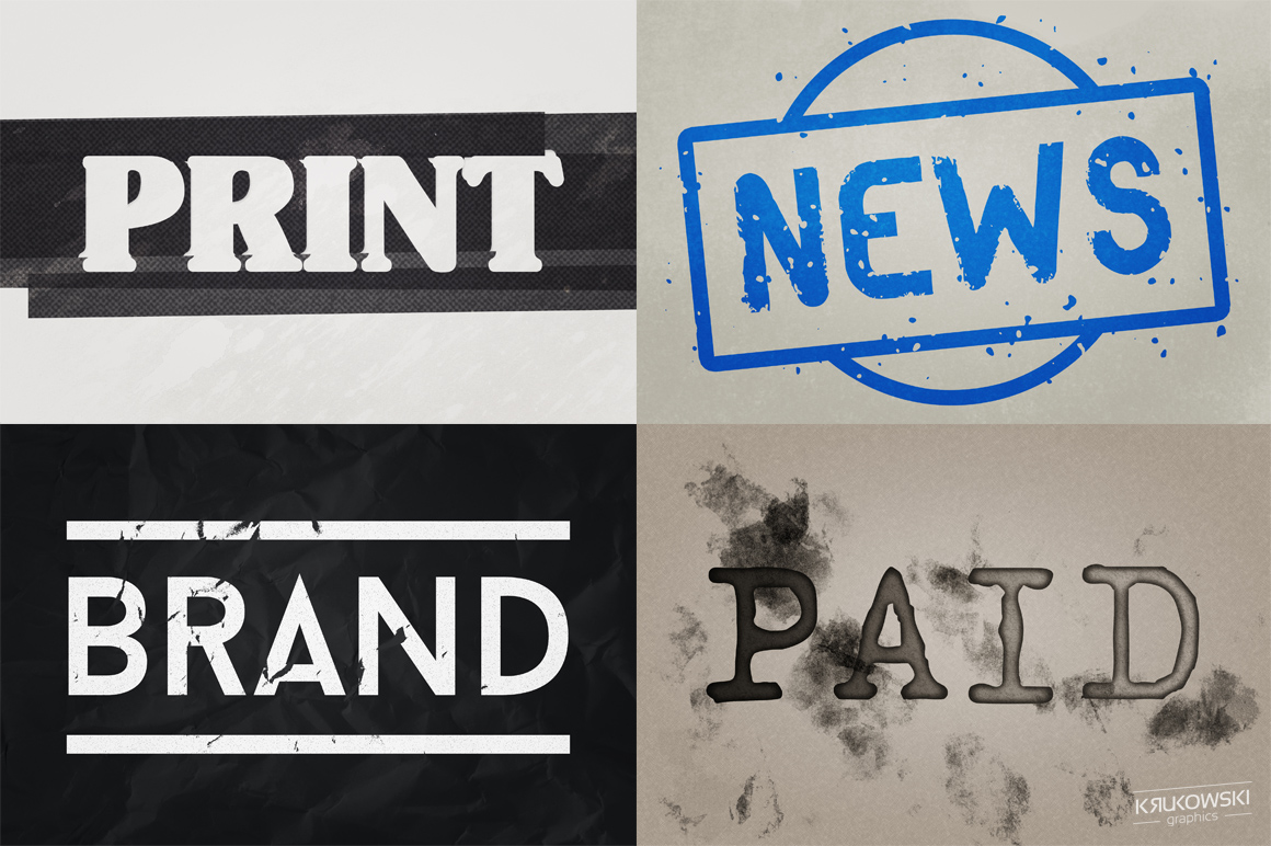 Stamp Ink Text Effects Style example image 3