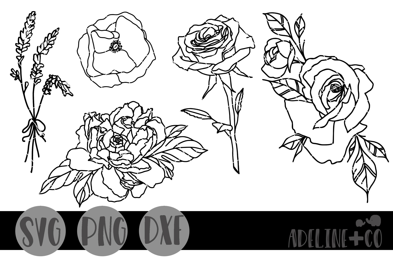 Flower bundle SVG PNG DXF example image 1
