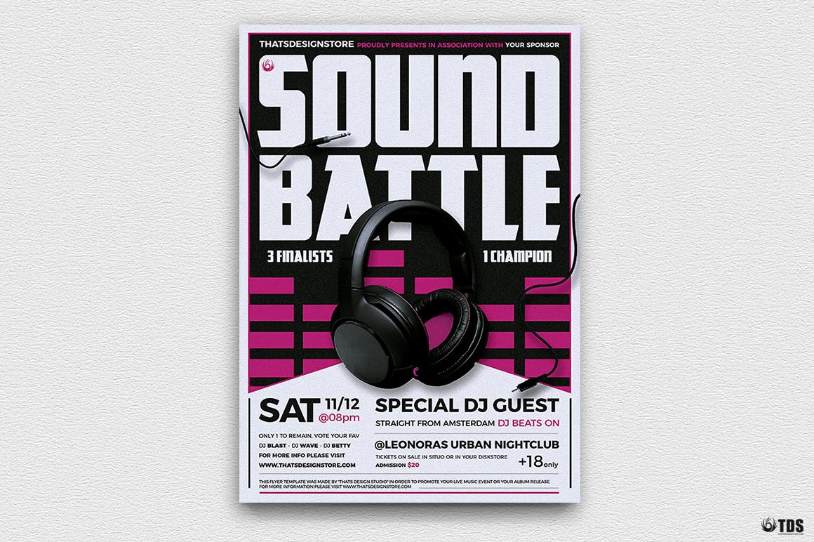 DJ Battle Flyer Template V3 example image 5