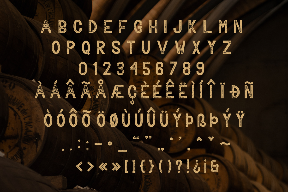 BAVALOR - ALL CAPS FONT FAMILY WITH EXTRAS example image 7