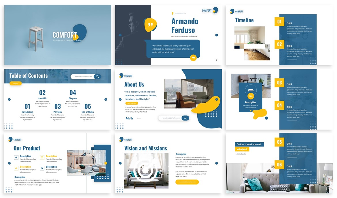 Comfort - Furniture Powerpoint Template example image 2