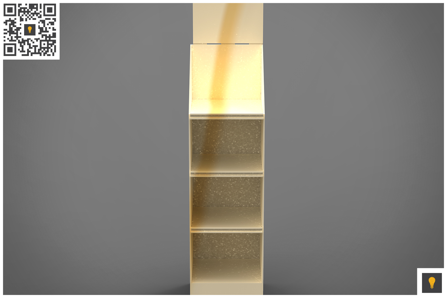 Promotional Store Shelf Stand 3D Render example image 10