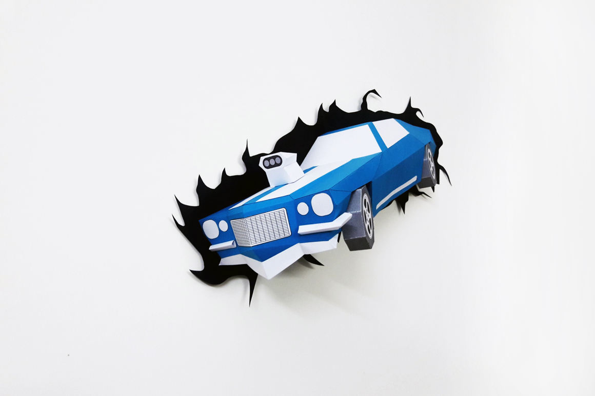 DIY Crashing Car - 3d papercraft example image 1