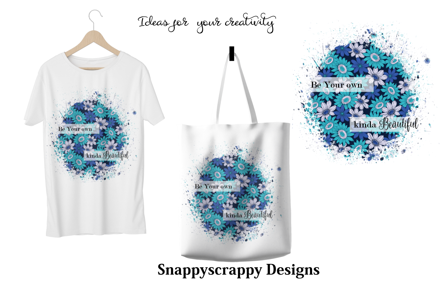 Floral Sublimation Backgrounds example image 2