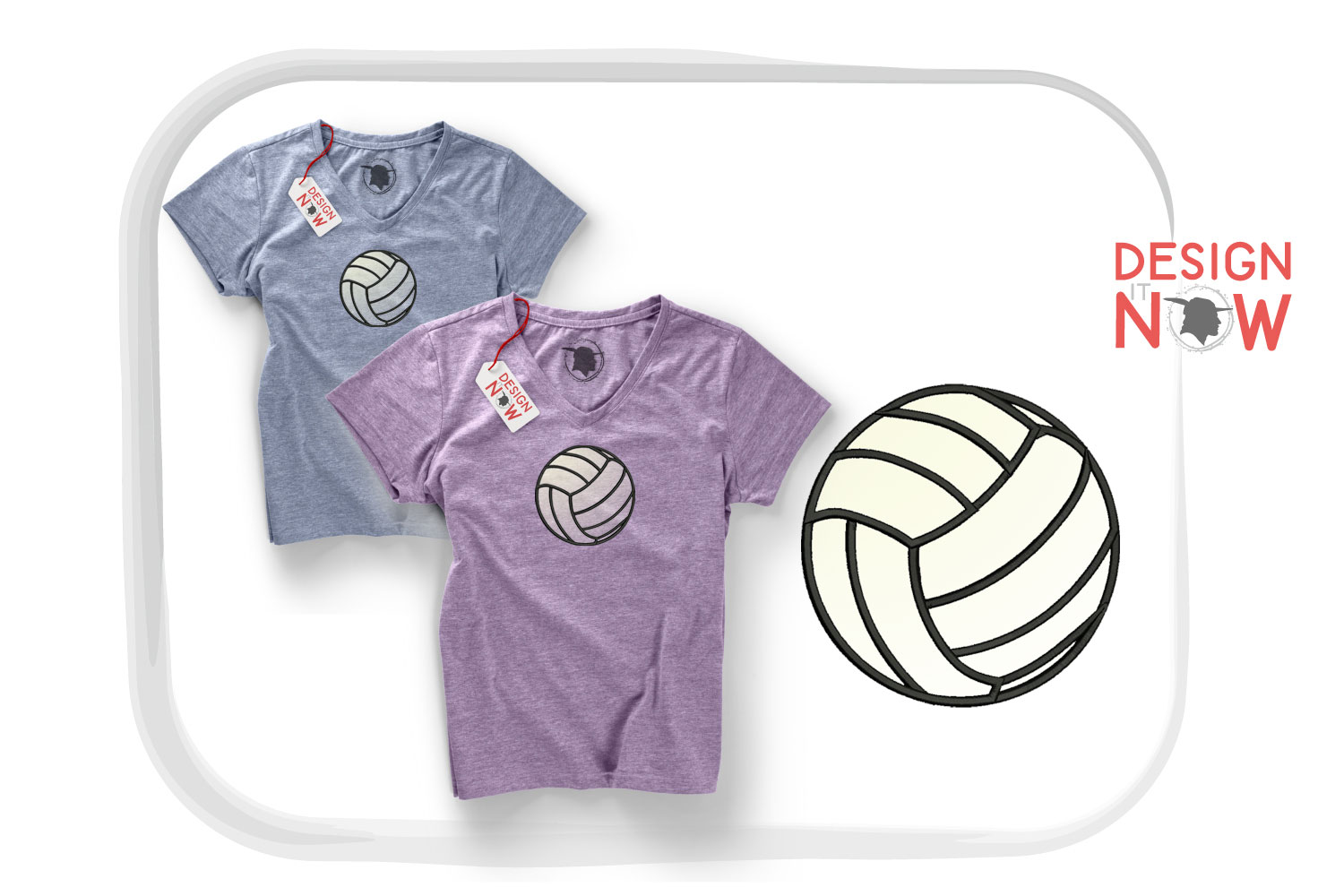 Volleyball Applique Design, Sport Embroidery, Ball Applique example image 2