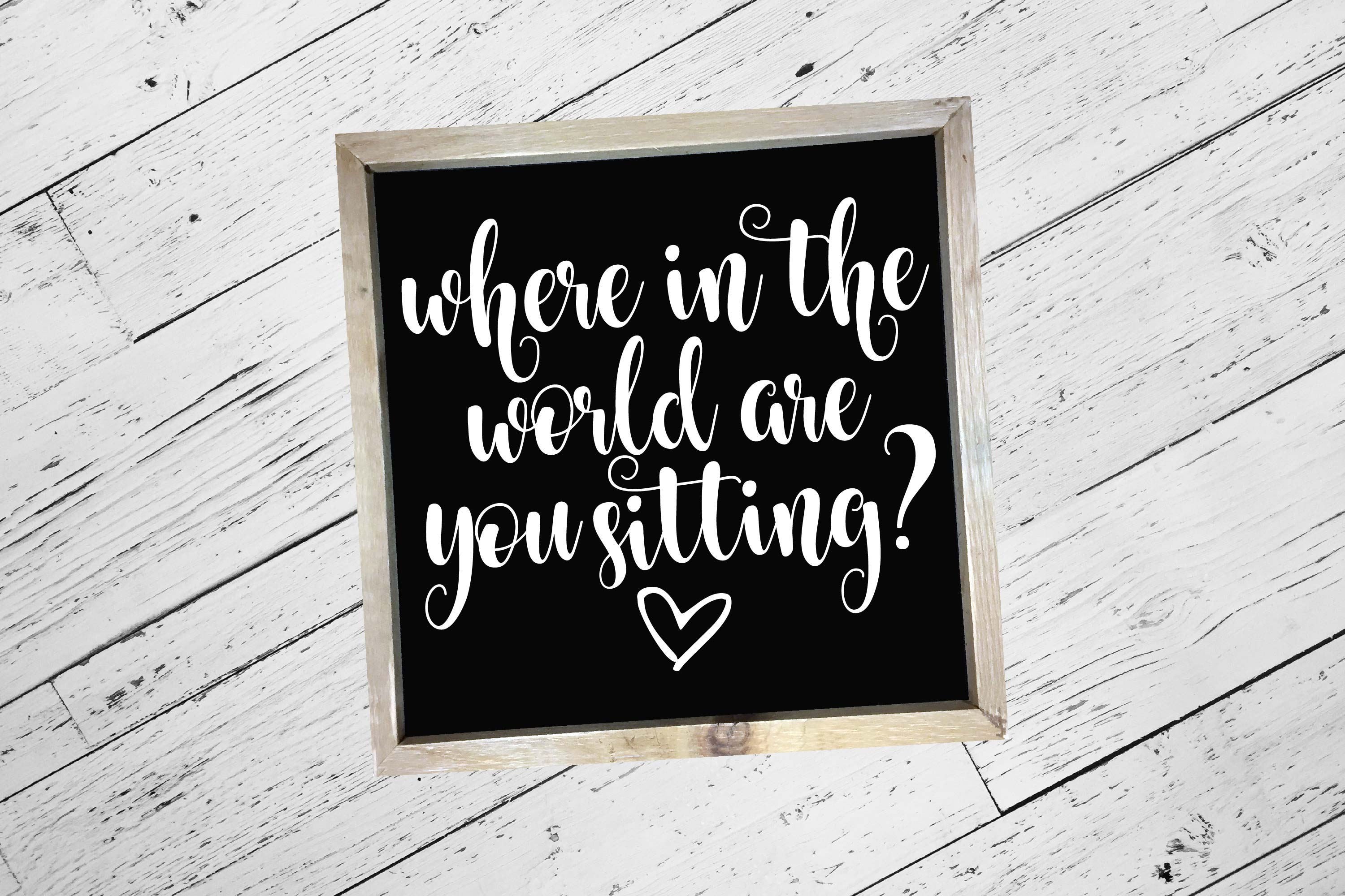 Where are you sitting? | Wedding |Wedding SVG Cut File example image 1