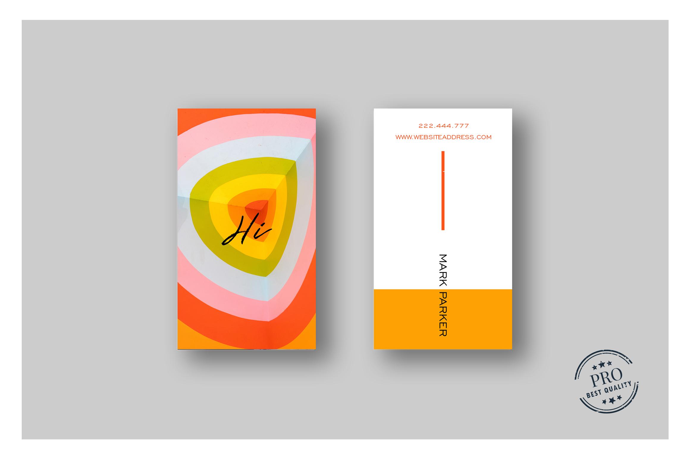 Beautiful Orange Colour business card example image 2