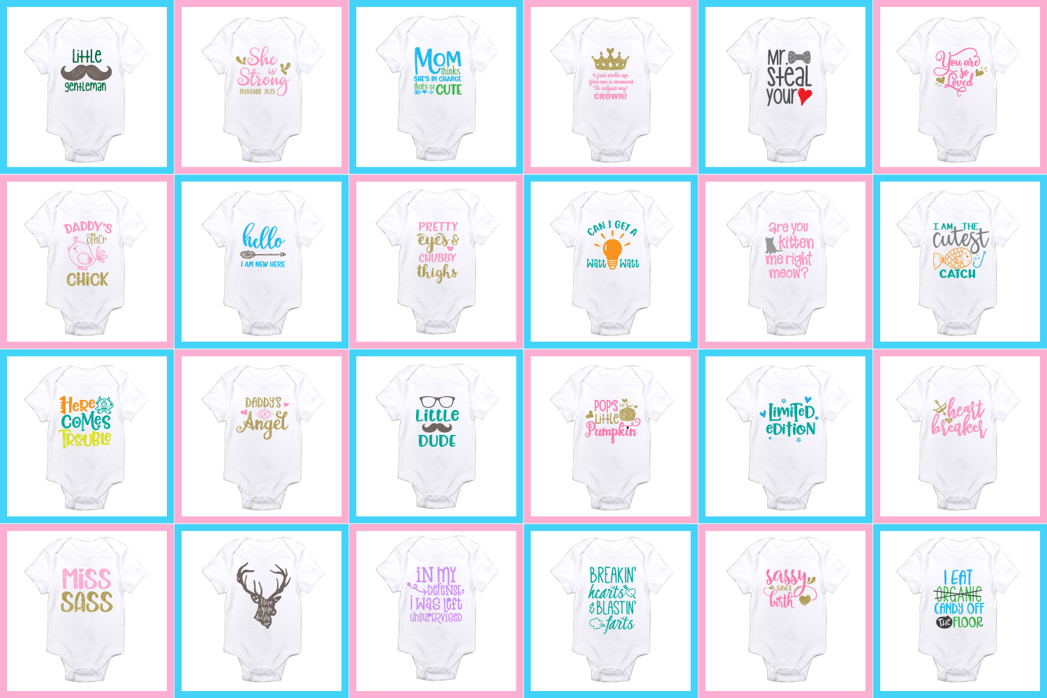 Baby Sayings Newborn Svg Bundle  – 136+ SVG File for Silhouette