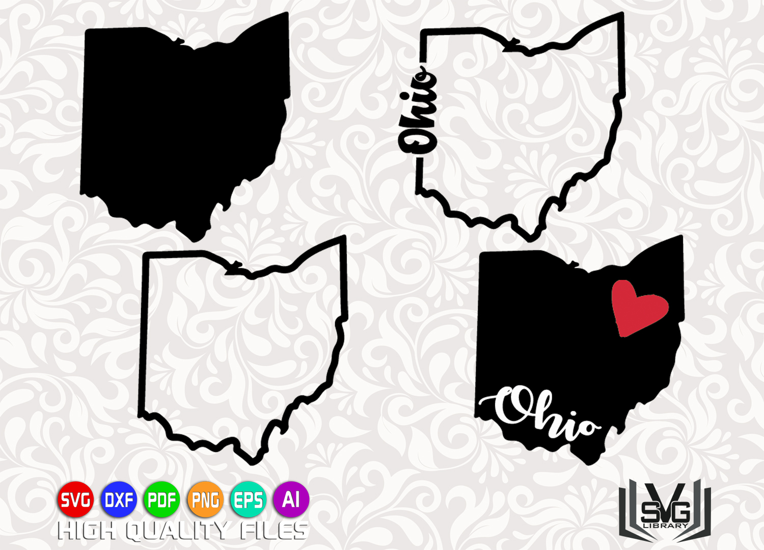 ohio designs svg ohio state svg ohio outline love ohio svg