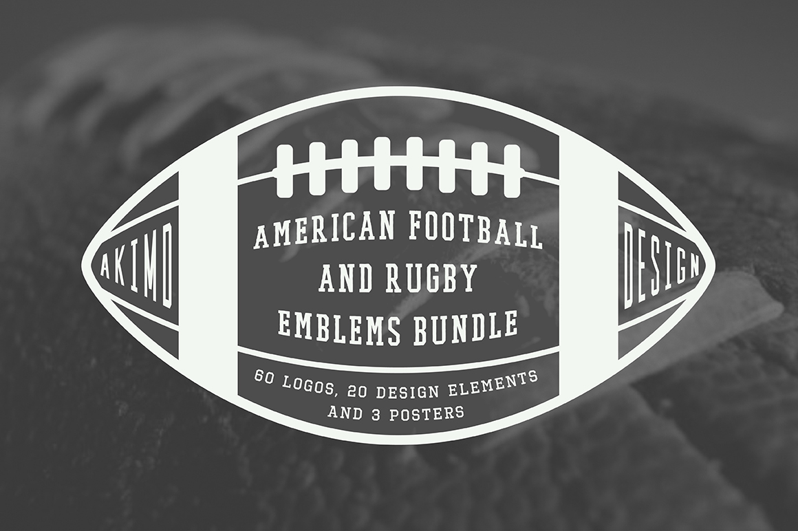 Football and Rugby Emblems Bundle example image 6