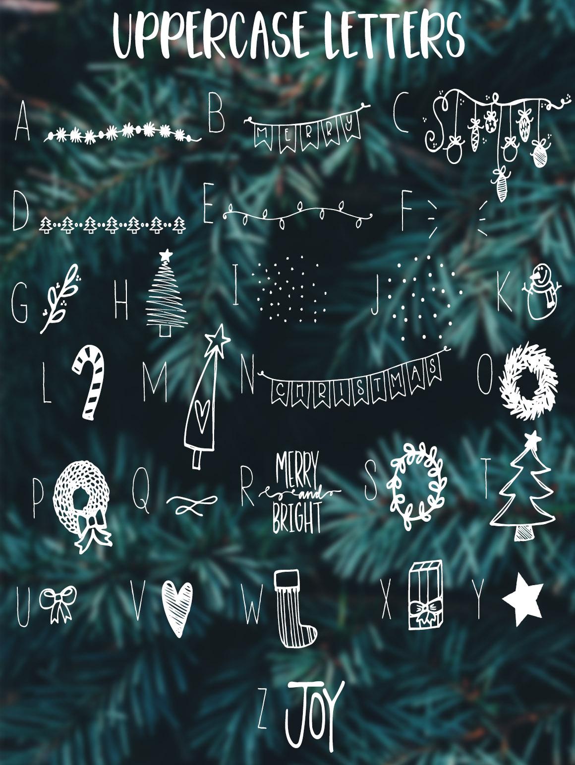 Christmas Symbols Font example image 3