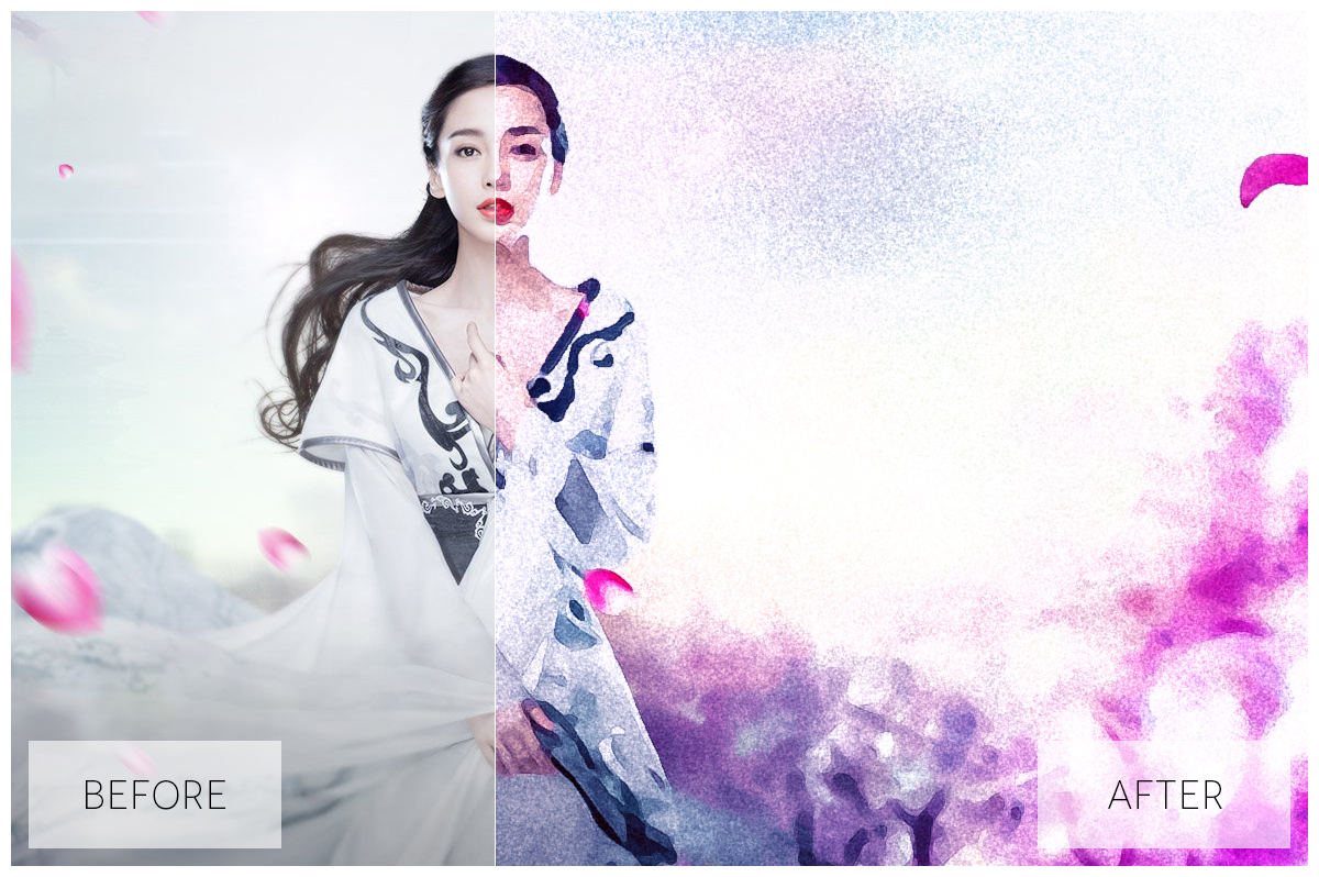 Lovely Watercolor Effect | Photoshop Actions example image 9