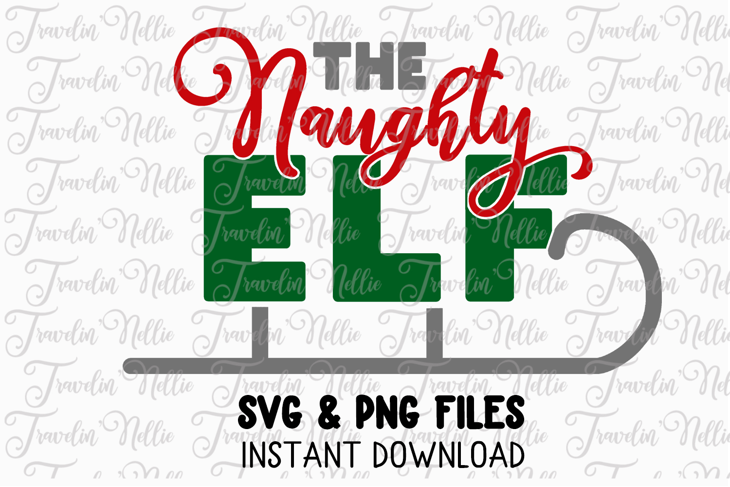 The Naughty Elf Svg Christmas Holiday Winter Funny Cut File example image 1