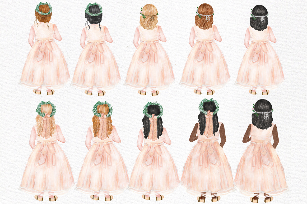 Flower girl clipart Wedding clipart example image 3