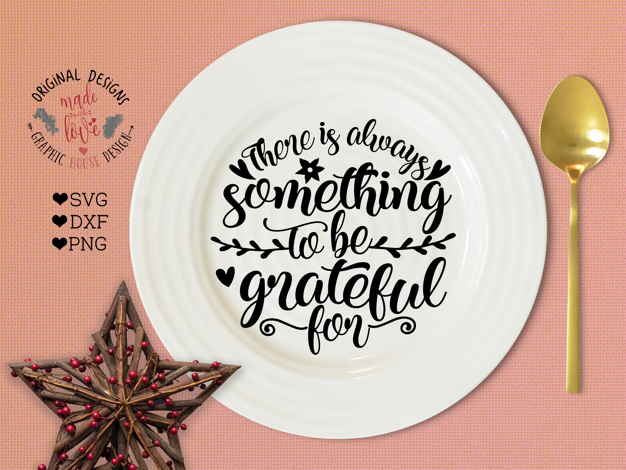Thanksgiving svg, There is always something to be grateful for in SVG DXF PNG example image 1
